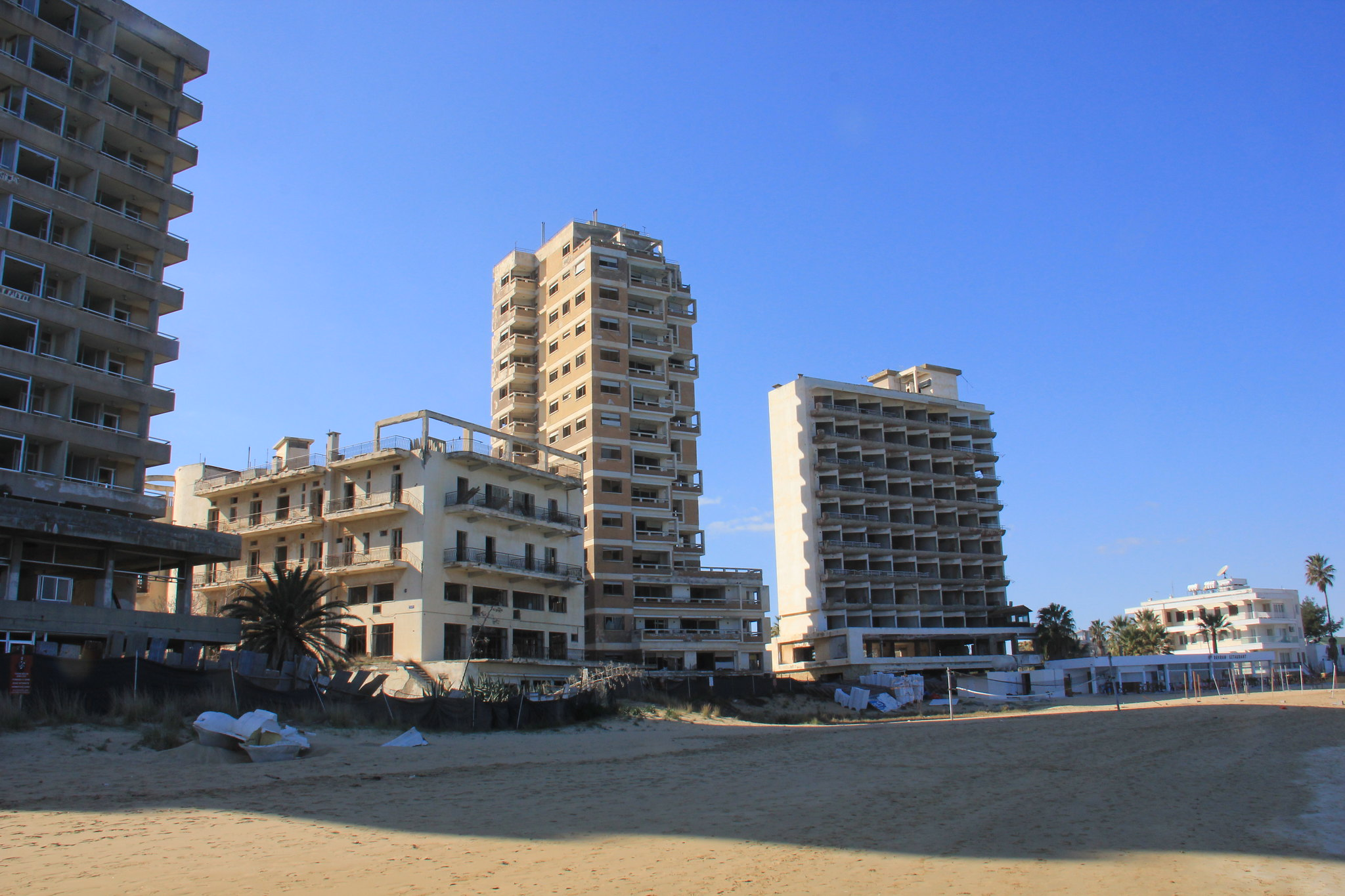 Varosha ghost town can be seen from a distance when you visit Northern Cyprus