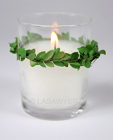 Green Vines Votive Candle Wedding Decoration