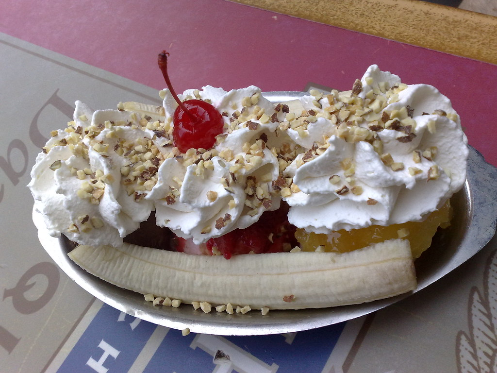 Banana split at Ghirardelli