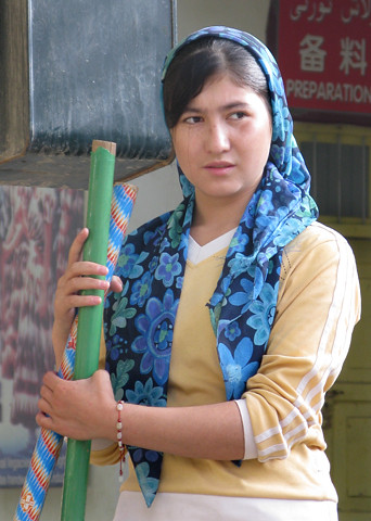 Uyghur girl at silk factory | by retrotraveller