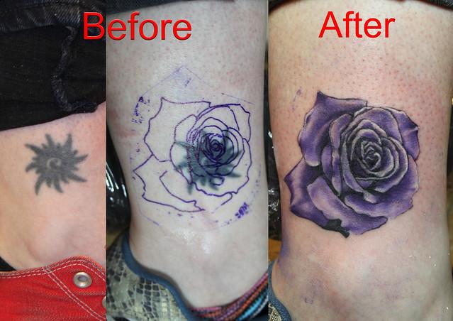 Cover up rose tattoo by mirek vel stotker flickr photo sharing