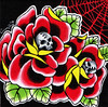 "Skulls and Roses Original Painting  ""Skulls and"