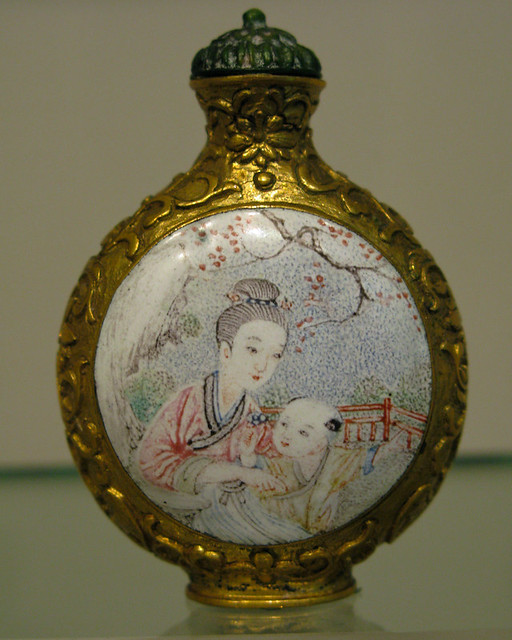 Mother & Child-Snuff Bottle