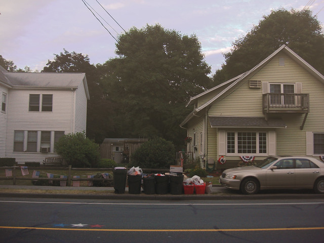 Trash day on North Ave; Wakefield, MA (2010)