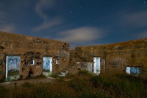 galveston abandoned night san texas fort military battery jacinto croghan