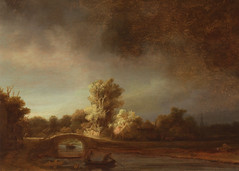 Rembrandt Van Rijn - The stone bridge at Rijksmuseum Amsterdam