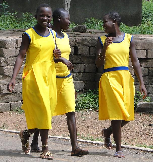 Female Students Share a Laugh - Bolgatanga - Ghana