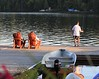 muskoka chair on dock