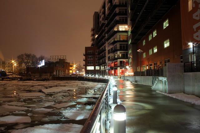 Riverwalk in Winter