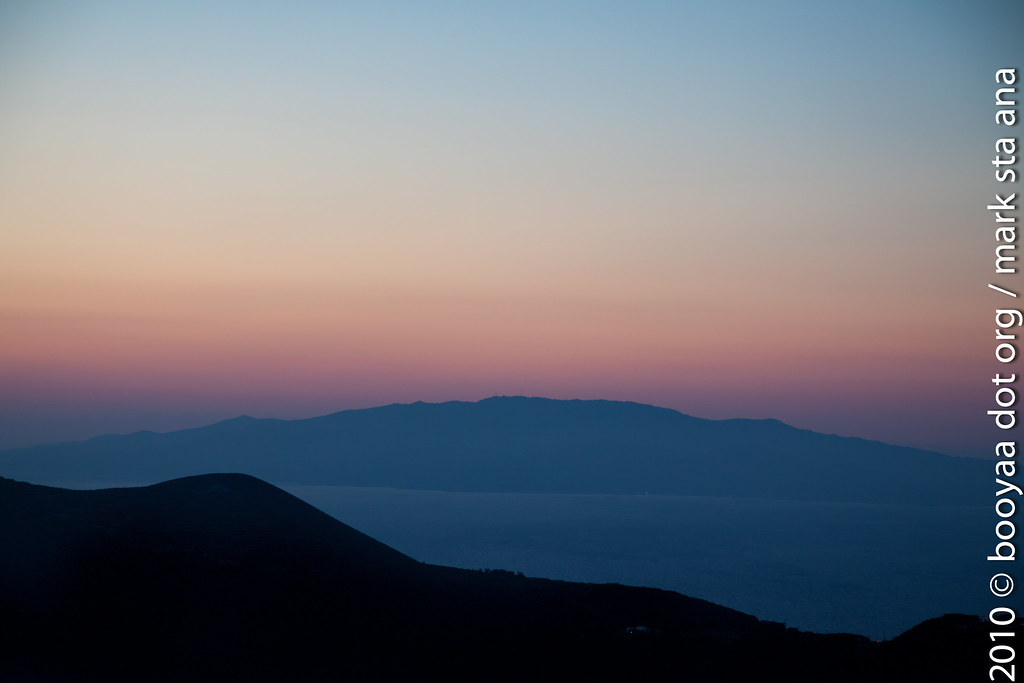 sunset santorini style