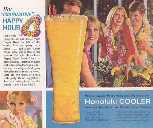 Southern Comfort Honolulu Cooler 1968