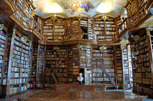 Library in St Florian, by Dorena WM on Flickr, CC-BY-ND license