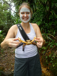 A land crab (and the Dominica Mud Mask!)