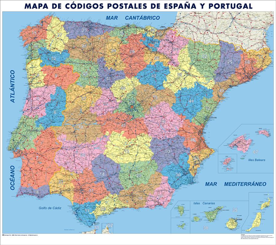 Espana Mapa Cdigos Postales  a photo on Flickriver