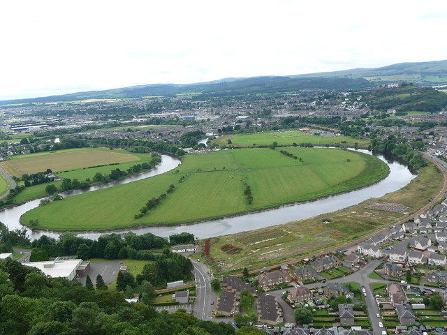 Stirling from Wallace Monument, Scotland