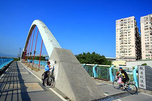 314J八里左岸自行車道-觀音坑溪橋