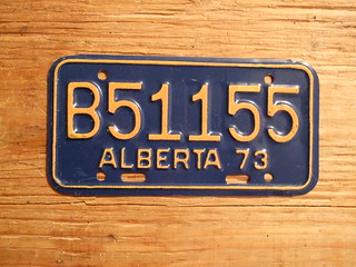 ALBERTA 1973 ---SNOWMOBILE PLATE B51155