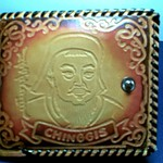 Genghis Khan wallet from Mongolia