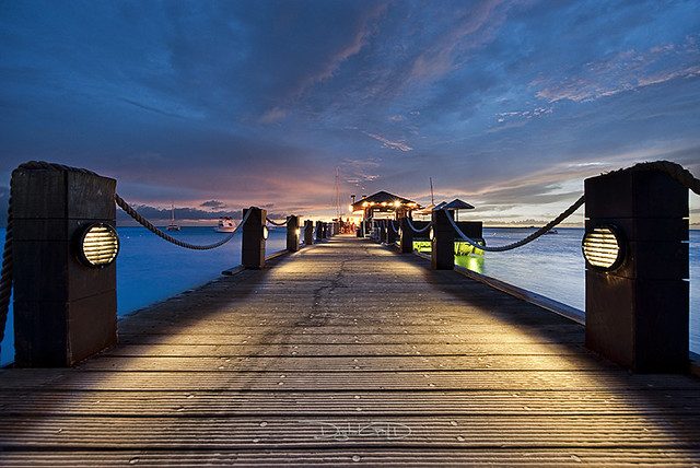 Aruba Sunset - Palm Beach Coast Hyatt Regency