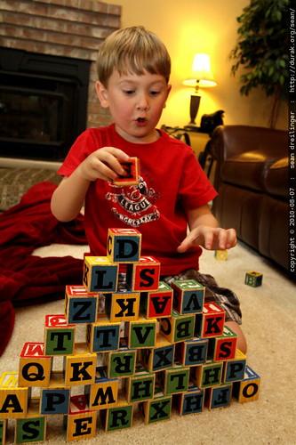 alphabet block pyramid
