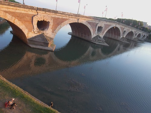 Late Afternoon Lovers: Garonne River Toulouse France