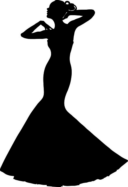 Clip art illustration of a spring bride in a strapless gown flickr