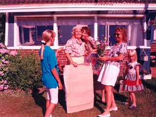 Presentutdelning. Heidi, Karin, Gitte, Ann
