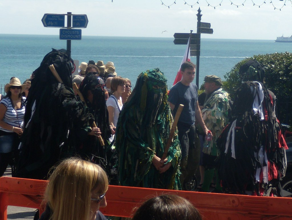 "Wild Hunt Bedlam Morris, Now here's an idea for next year - a mummers play based on ""The Fog"" Ramsgate to Margate Broadstairs Folk Week"