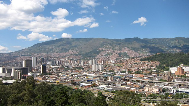 View toward downtown Medellin, Colombia