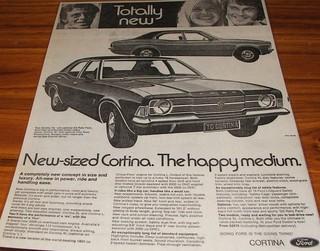 1973 Ford TC Cortina Mk3 Ad