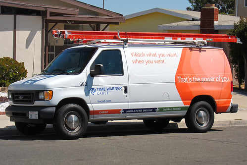 Watch what you want... (Time Warner Cable van)