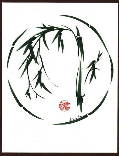 "Original Enso Zen Painting Throw Pillows: ""VISIONARY"" Original Sumi-e Enso Ink Brush Pen Wash Painti"