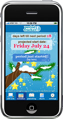 """Holiday Girl"" - Period Tracker iPhone App"