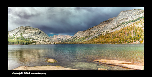 Panorama: Tenaya Lake, California