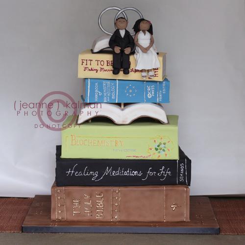 Stack Of Books Wedding Cake