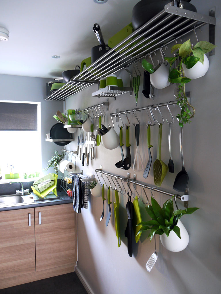 extremely small galley kitchen storage