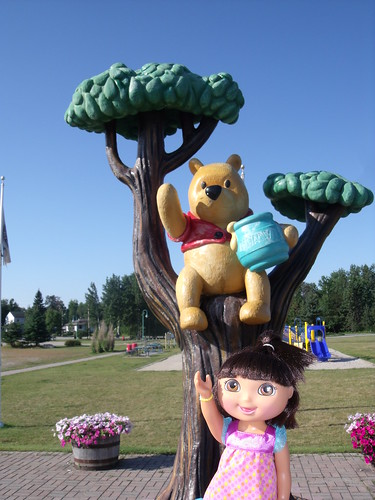 Dora and Winnie-the-Pooh, White River, ON