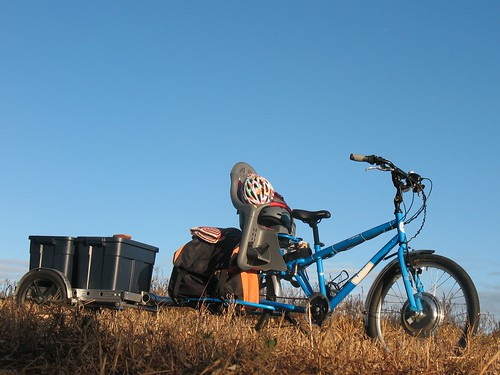 Electric Yuba Mundo with Bikes-at-Work trailer