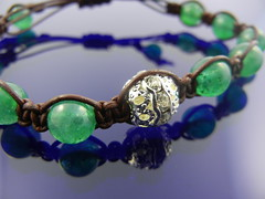 Leather and Jade Bracelet
