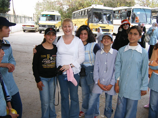 With Arab children in Jericho