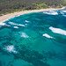 Beautiful beaches of Oahu's North Shore - aerial view