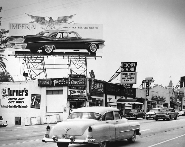 L.A.- SUNSET BLVD,  MELODY ROOM 1956