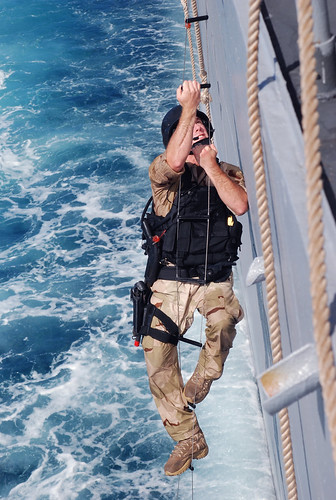 Visit, board, search and seizure teams train in the Indian Ocean.