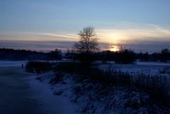 Zonsondergang bij Kleine Poel in Amstelveen