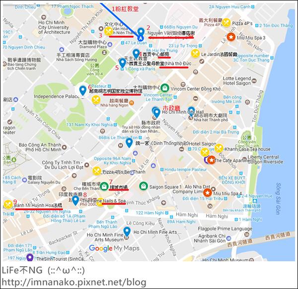 胡志明市景點map