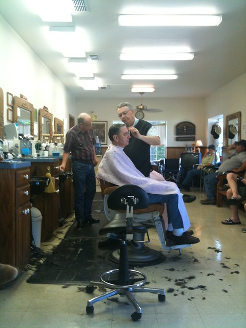 ... took my Dad to the barber while I was? Flickr - Photo Sharing