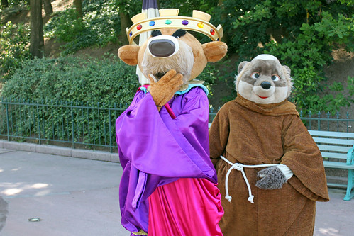 Prince John and Friar Tuck wind each other up