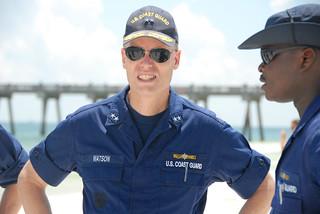 Rear Adm. Watson Inspecting Beach Clean-up Efforts