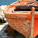 Orange boat in Kassiopi Corfu by Lazenby43