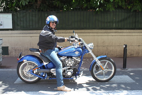 Harley Davidson in Blue